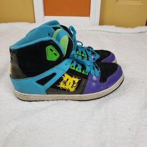 Colorful DC sneakers men's inbound, sz 9.5